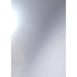 Papír pro scrapbook A4 - stříbrný, lesklý
