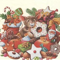 Vánoční s myškou 33x33