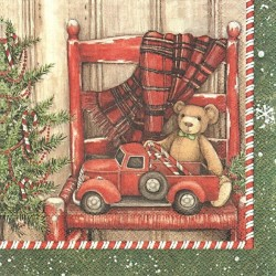 Medvídek s autem 33x33
