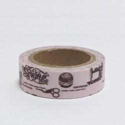 Papírová páska 15mm/10m - Sewing, šití