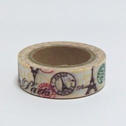 Papírová páska 15mm/10m - Paris. Eiffelovka