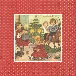 Děti u stromku 33x33