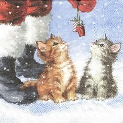 Vánoční s koťátky 33x33