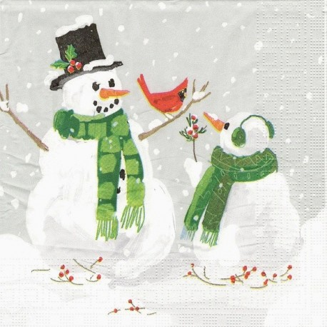 Dva sněhuláci 33x33