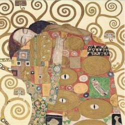 Reprodukce obrazu 20x20 - Klimt, objetí