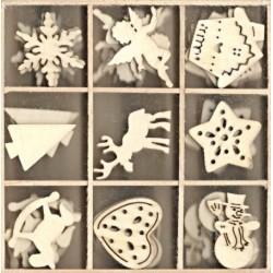 Dřevěné ozdoby Vánoce II. 10,5x10,5