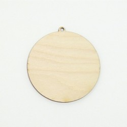 Dřev.výřez Vánoční baňka 8cm