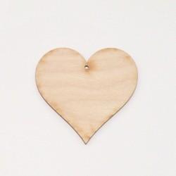 Srdce dřevěné k zavěšení - 8x8 (laser)