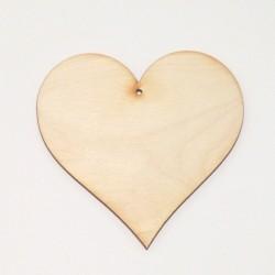 Srdce dřevěné k zavěšení - 12,5x12,5 (laser)