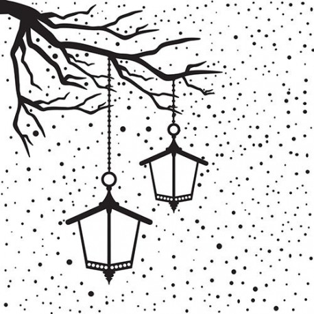 Embos.kapsa - zimní motiv s lampami (Nellie´s Choice)
