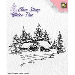 Transp.razítko Dům v zimě (Nellie´s Choice)