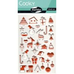 Samolepky Cooky - Norské Vánoce