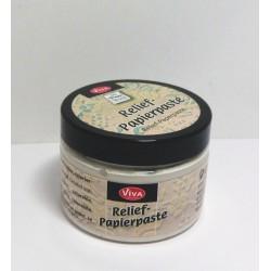 Reliéfní papírová pasta 150ml stará bílá