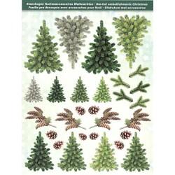 Papírové výseky - Stromečky a větve