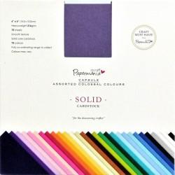 Sada papírů 75 barev, 15x15cm, 216gsm