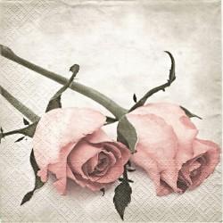 Dvě růžová poupata 33x33