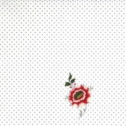 Puntíky a květ 38x38
