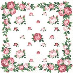 Elegantní rám z růží 33x33