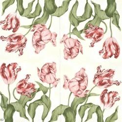 Červené žíhané tulipány 33x33
