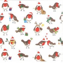 Mini vánoční ptáčci 33x33