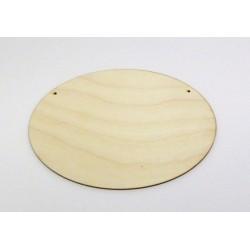 Destička dřevěný ovál s dvěma otvory, 20x14