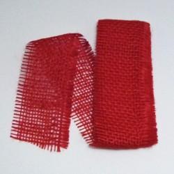 Stuha juta 5cmx2m červená