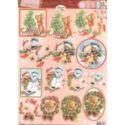 Papírové výseky A4 - rámečky, zdobení stromečku (SL)