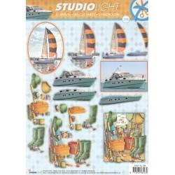 Papírové výseky A4 - Jachty a rybaření (SL)