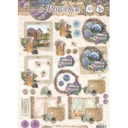 Papírové výseky A4 - La Provence, garden (SL)