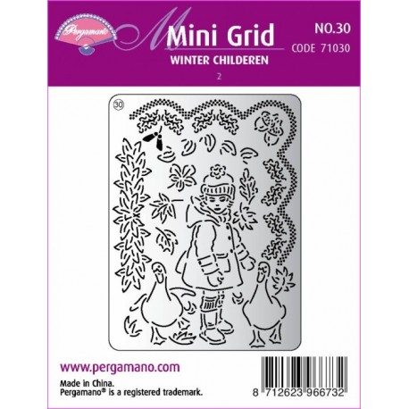 Mřížka Mini grid č.30 - Děti v zimě 2