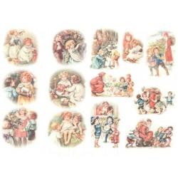 Papír rýžový A4 Malé obrázky, vánoční hraní a batolata