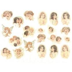 Papír rýžový A4 Malé obrázky s andílky