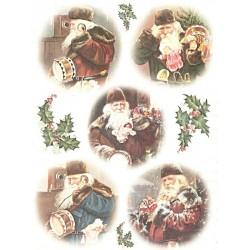 Papír rýžový A4 Vánoční muži