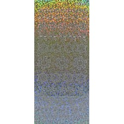 Kontury Třpytivé vločky stříbrný hologram