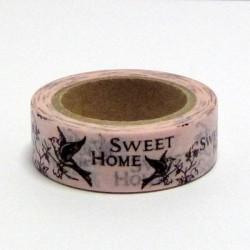 Papírová páska 15mm/10m - Sweet Home