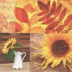 Podzimní se slunečnicí 33x33