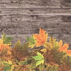 Dřevo a listí 33x33