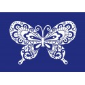 Šablona sítotisk - Motýl A4