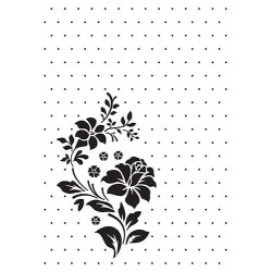 Embossovací kapsa - Růže a puntíky