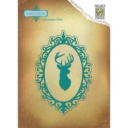 Vyřezávací šablona - rámeček s jelenem