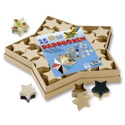 Set - dárkové krabičky hvězdičky, 25ks (přírodní barva)