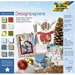 Blok designových papírů 30,5x30,5cm Vánoce (F)