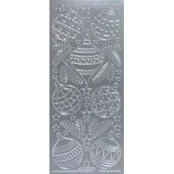 Kontury Vánoční baňky stříbro
