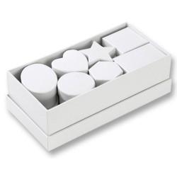 Krabičky ze silného kartonu, 15ks mix, bílé