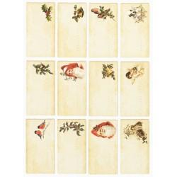 Scrap.papír A4 Kartičky na vánoční dárky