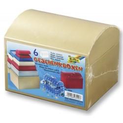 Dárkové krabičky - truhličky, 6ks mix