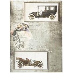 Papír rýžový A4 Vintage auta, došeda