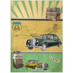 Papír rýžový A4 Route Us 66, Rolls Royce