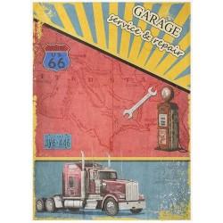 Papír rýžový A4 Route Us 66, Kenworth Truck