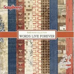 Sada papírů Words Live Forever 15x15